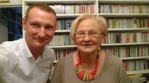 dr Marcin Krzemiński i prof. Ewa Łętowska